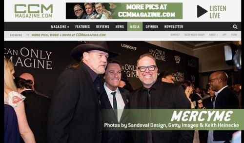 MercyMe, Bart Millard, I Can Only Imagine, CCM Magaine - image